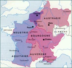 Royaume Franc vers l'an 600