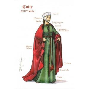 Robe au XIIIe siècle