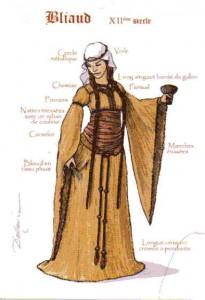 Robe au XIIe siècle