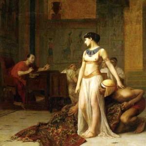 entrée de Cléopâtre sortant d'un tapis