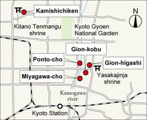 5 des hanamachi de Kyoto