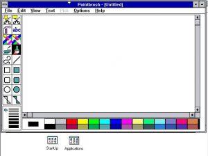 Paint sous Windows 3.1